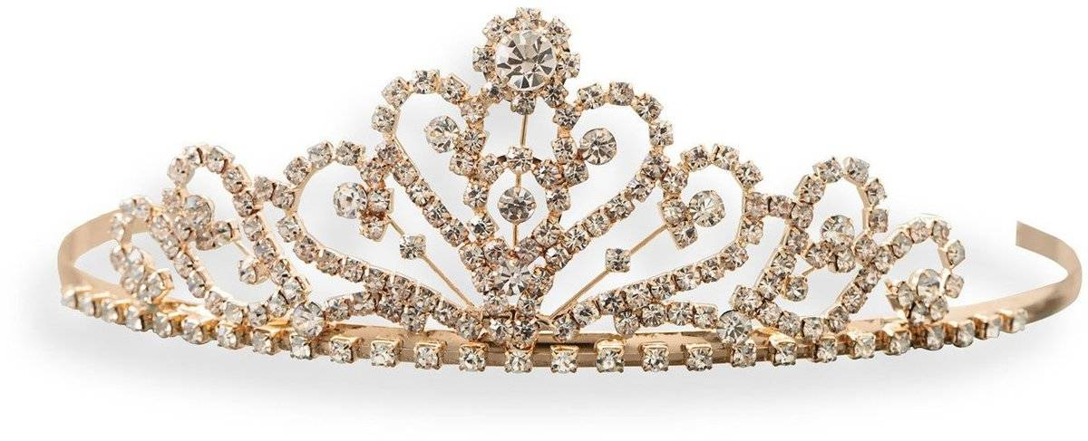 Gold Tone Crown Design Fashion Tiara