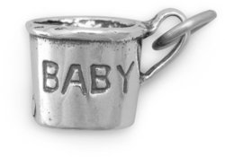 Baby Cup Charm 925 Sterling Silver