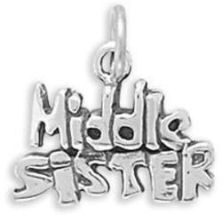 Middle Sister Charm 925 Sterling Silver