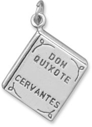 Don Quixote Book Charm 925 Sterling Silver