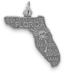 Florida State Charm 925 Sterling Silver
