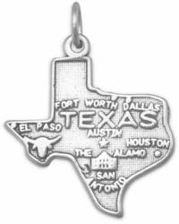 Texas State Charm 925 Sterling Silver