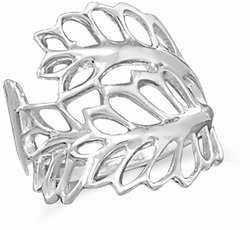 Cut Out Leaves Ring 925 Sterling Silver
