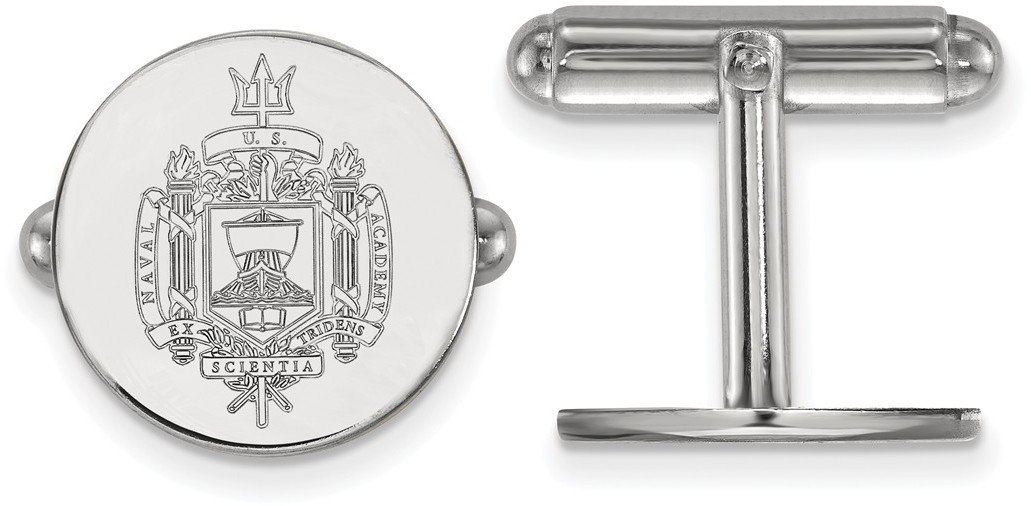 Sterling Silver Navy Crest Cuff Links by LogoArt