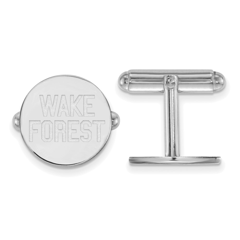 Sterling Silver Wake Forest University Cuff Links by LogoArt (SS065WFU)