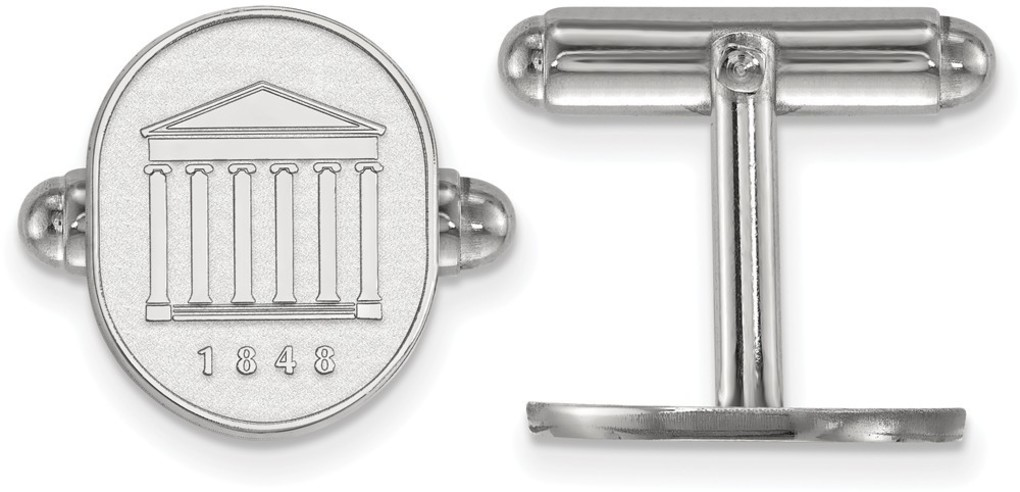 Sterling Silver University of Mississippi Crest Cuff Links by LogoArt
