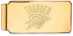 14K Yellow Gold NBA Oklahoma City Thunder Money Clip by LogoArt