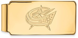 14K Yellow Gold NHL Columbus Blue Jackets Money Clip by LogoArt