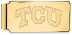 14K Yellow Gold Texas Christian University Money Clip by LogoArt