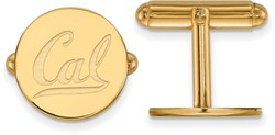 Gold Plated Sterling Silver University of California Berkeley Cuff Links LogoArt
