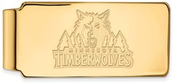 14K Yellow Gold NBA Minnesota Timberwolves Money Clip by LogoArt