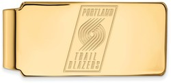 14K Yellow Gold NBA Portland Trail Blazers Money Clip by LogoArt