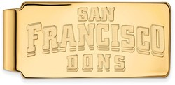 14K Yellow Gold University of San Francisco Money Clip by LogoArt