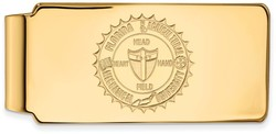 14K Yellow Gold Florida A&M University Money Clip Crest by LogoArt