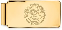 14K Yellow Gold George Mason University Money Clip Crest by LogoArt