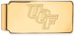 10K Yellow Gold University of Central Florida Money Clip by LogoArt