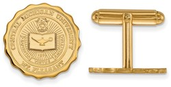 Gold Plated Sterling Silver Central Michigan University Crest Cuff Links LogoArt