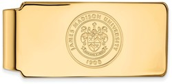 14K Yellow Gold James Madison University Money Clip Crest by LogoArt
