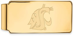 10K Yellow Gold Washington State Money Clip by LogoArt (1Y018WAS)