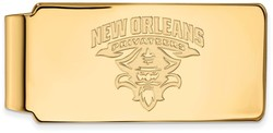 10K Yellow Gold University of New Orleans Money Clip by LogoArt