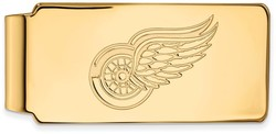 14K Yellow Gold NHL Detroit Red Wings Money Clip by LogoArt