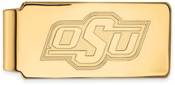 14K Yellow Gold Oklahoma State University Money Clip by LogoArt