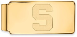 14K Yellow Gold Michigan State University Money Clip by LogoArt