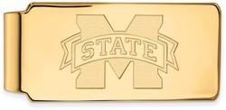 10K Yellow Gold Mississippi State University Money Clip by LogoArt