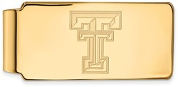 14K Yellow Gold Texas Tech University Money Clip by LogoArt