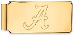 14K Yellow Gold University of Alabama Money Clip by LogoArt
