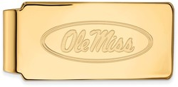 10K Yellow Gold University of Mississippi Money Clip by LogoArt