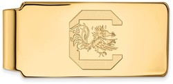 14K Yellow Gold University of South Carolina Money Clip by LogoArt