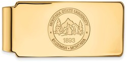 14K Yellow Gold Montana State University Money Clip Crest by LogoArt