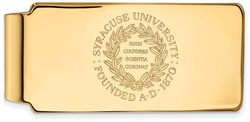 10K Yellow Gold Syracuse University Money Clip Crest by LogoArt