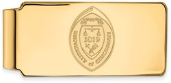 14K Yellow Gold University of Cincinnati Money Clip Crest by LogoArt