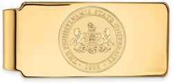 14K Yellow Gold Penn State University Money Clip Crest by LogoArt