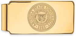 14K Yellow Gold Arizona State University Money Clip Crest by LogoArt