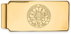 14K Yellow Gold University of Nebraska Money Clip Crest by LogoArt