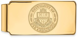 14K Yellow Gold University of Pittsburgh Money Clip Crest by LogoArt