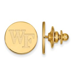 Gold Plated Sterling Silver Wake Forest University Cuff Links LogoArt (GP063WFU)