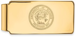 10K Yellow Gold University of Illinois Crest Money Clip by LogoArt