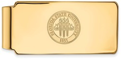 10K Yellow Gold Florida State University Money Clip Crest by LogoArt
