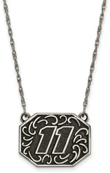 NASCAR - #11 Stainless Bali Type Split Chain Pendant by LogoArt