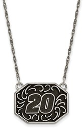 NASCAR - #20 Stainless Bali Type Split Chain Pendant by LogoArt