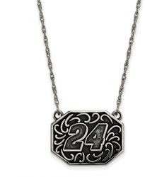 NASCAR - #24 Stainless Bali Type Split Chain Pendant by LogoArt