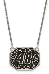 NASCAR - #48 Stainless Bali Type Split Chain Pendant by LogoArt