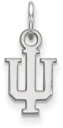 10K White Gold Indiana University X-Small Pendant by LogoArt (1W001IU)