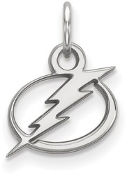10K White Gold NHL Tampa Bay Lightning X-Small Pendant by LogoArt