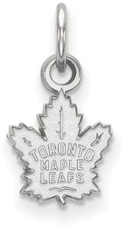 10K White Gold NHL Toronto Maple Leafs X-Small Pendant by LogoArt