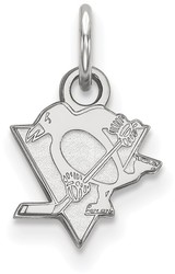 10K White Gold NHL Pittsburgh Penguins X-Small Pendant by LogoArt